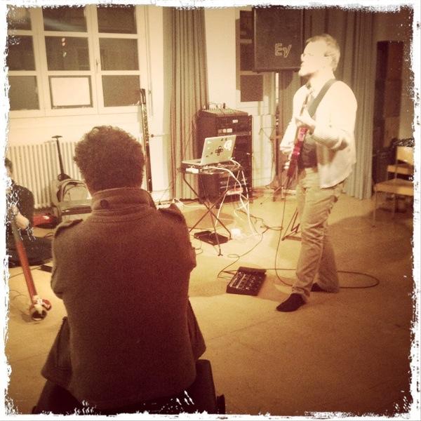 At the improv workshop