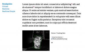 Responsive Facetracking Design